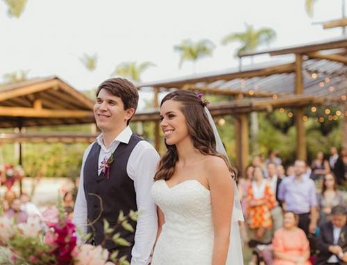 Casamento ao ar livre noLago Buriti